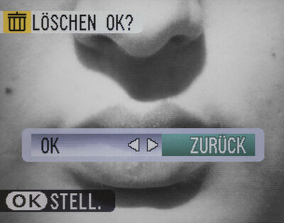 Sabine Dusend, 'Löschen (Mund I)', 2019
