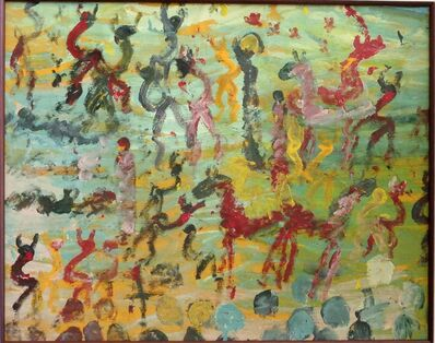 Purvis Young, 'Untitled (Coming to Free Us)', 1992