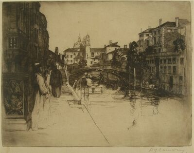 Sir David Young Cameron, 'Canal, Venice', ca. 1895