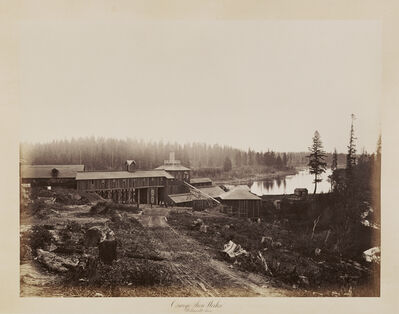 Carleton E. Watkins, 'Oswego Iron Works, Willamette River', 1867