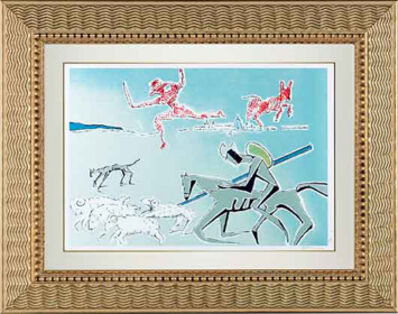 "Salvador Dalí, '""Don Quixote: The Warrior's Heard"" Hand Signed Salvador Dali Lithograph', 1941-1957"