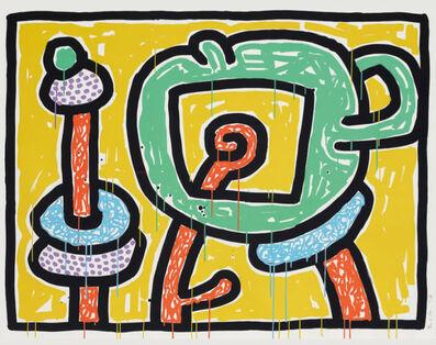Keith Haring, 'Flowers (3)', 1990