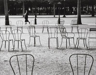André Kertész, 'Chairs, Champs Elysées, Paris', 1927