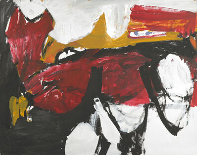 Charlotte Park, 'Untitled (Black, White, Red, and Brown IV)', ca. 1955