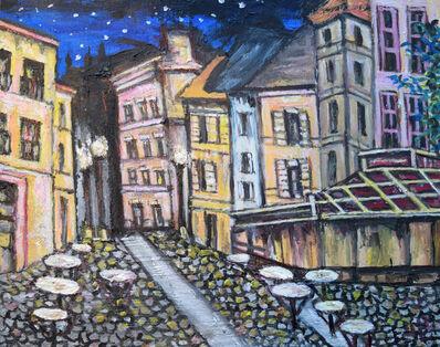 Lewis Pujol, 'Starry Night Café Scene', 2016