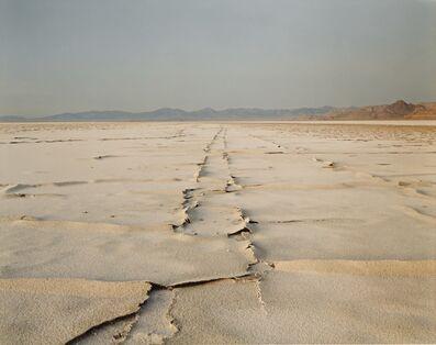 Richard Misrach, ''Encrusted Tracks, Bonneville Salt Flats''