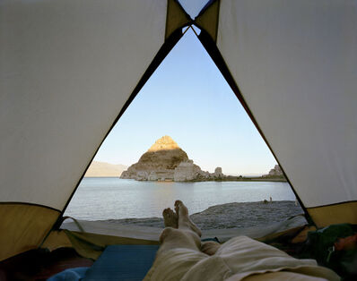 Mark Klett, 'View From The Tent At Pyramid Lake, Nevada', 2000