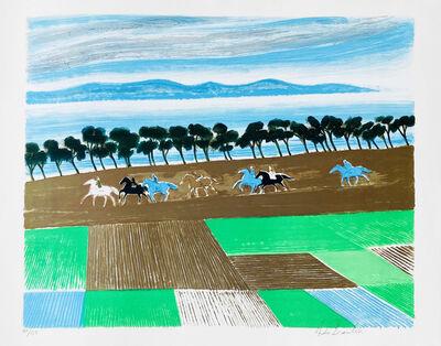 Andre Brasilier, ' Les Rizieres d'Izu', 1990