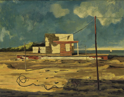 Hughie Lee-Smith, 'Landscape with Figure.', 1952