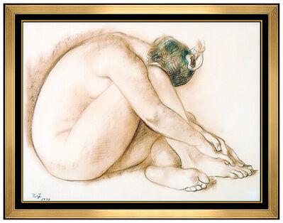 Francisco Zúñiga, 'Francisco Zuniga Original Pastel Drawing Signed Portrait Nude Female Authentic', 1973