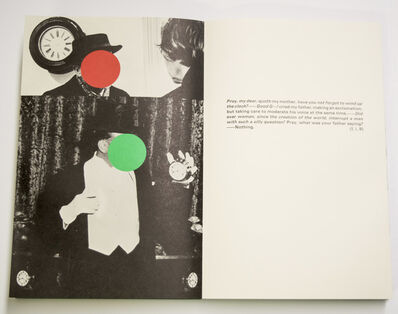 John Baldessari, 'The Life and Opinions of Tristram Shandy, Gentelman by Laurence Sterne', 1988