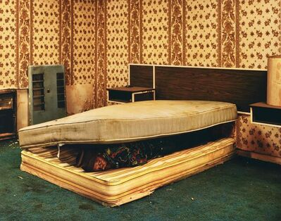 Taryn Simon, 'Larry Mayes, Scene of Arrest, The Royal Inn, Gary, Indiana. Police found Mayes hiding beneath a mattress in this room. Served 18,5 years of an 80-year sentence for rape, robbery and unlawful deviate', 2002