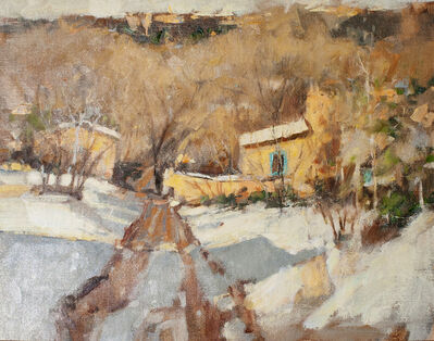 Irby Graves Brown, 'Village Road in Winter'