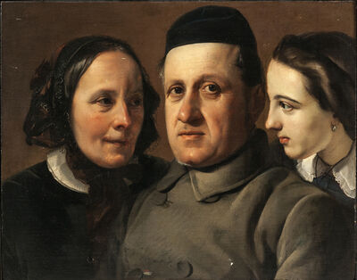 Francesco Hayez, 'Portraits (Three Heads)'