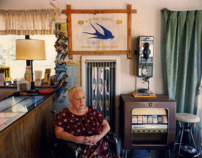 Steve Fitch, 'Lillian Redman, Blue Swallow Motel, Rt. 66, Tucumcari, New Mexico; July, 1990'