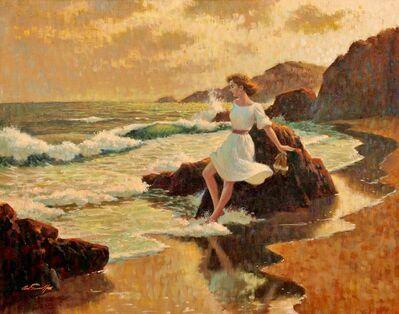 Arthur Sarnoff, 'Girl on Beach'