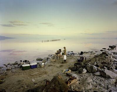 Mark Klett, 'Rebecca making coq au vin near the site of Smithson's Spiral Jetty  ', 2000