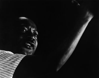Harry Benson, 'Martin Luther King, Jr., Canton, Mississippi', 1966