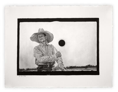 "Joel Daniel Phillips, 'Killed Negative #8 / After John Vachon [Archive Text: ""Untitled Photo, Possibly Related to: Farmer, Irwinville Farms, Georgia""]', 2020"
