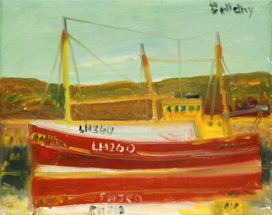 John Bellany R.A., 'Boat in a Harbour'