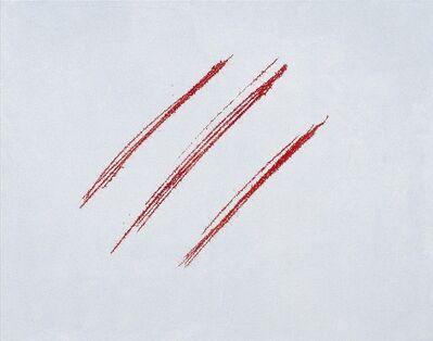 Ye Yongqing 叶永青, 'Red fontana  红色的封塔纳', 2008