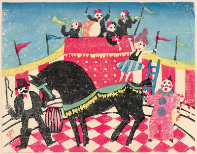 Kawanishi Hide, 'Circus', 1925