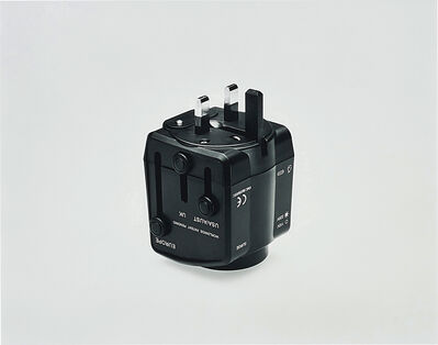Christopher Williams, 'Universal Travel Adaptor, Scorpio Distributors Ltd., Unit DZ, West Sussex, Great Britain, Product number TXR770000, Power Rating: 6A Max 125/250Vac, With Built-In Surge Protector, With Safety Shutters, Surge Indicator Light 110Vac or 220Vac Light Indicator, Built-In 13A Fuse, Testing based on International Standard IEC 884-2-5 Witnessed by TUV, CE EMC Approval, Photography by the Douglas M. Parker Studio, Los Angeles, California, December 15, 2005.', 2005