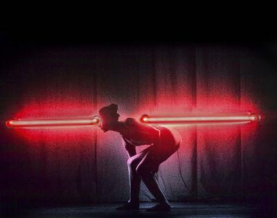 """Silvia Lelli, 'Neon collection / Neon installation, K.D.C.D.G., L/2, Krisztina de Châtel Dance Group, """"Light"""" Venezia, 1981', 1981"""