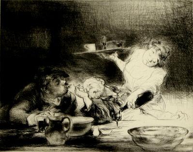 Edmund Blampied, 'Vin Rouge (Red Wine)', 1932