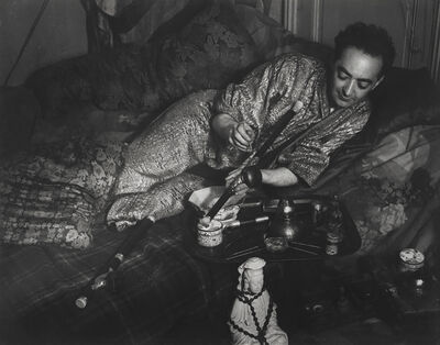 Brassaï, 'Monsieur B. revêtu d'un kimono à brocart d'or (Mr. B in a kimono with gold brocade)', 1931