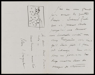 John Singer Sargent, 'John Singer Sargent to Claude Monet, Sept 1 [1897], from 33 Tite St., London, re his acquisition of a Monet', 1891