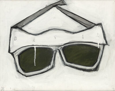 Donald Baechler, 'Sunglasses (David)', 1976-77