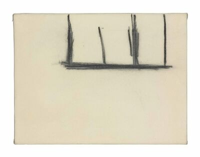 Robert Motherwell, 'Open No. 140: Charcoal on Cream'