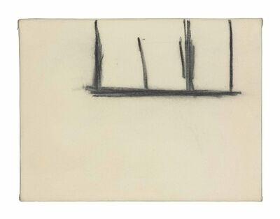 Robert Motherwell, 'Open No. 140: Charcoal on Cream'