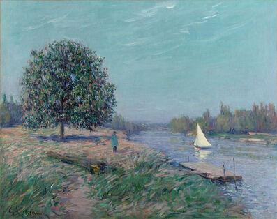 Gustave Loiseau, 'Voilier sur la rivière', ca. 1910
