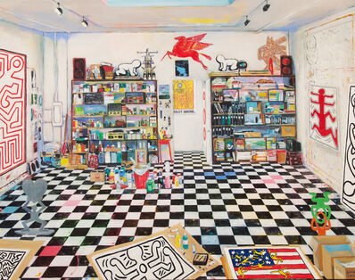 Damian Elwes, 'Keith Haring's Studio, (New York City, 1988)', 2017