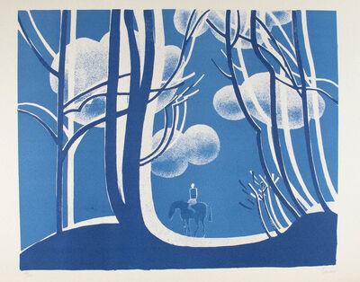 Albert Zavaro, 'Le Cheval Bleu (The Blue Horse)', 1975