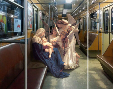 Alexey Kondakov, 'Triptych: William Adolphe Bouguereau «Song of the angels». Teremki metro station', 2015