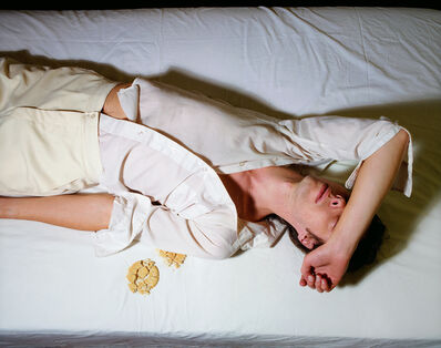 Jo Ann Callis, 'Man on Bed with Crumbs', 1979