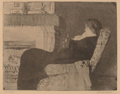 Mary Cassatt, 'Before the Fireplace (No. 1)', ca. 1882