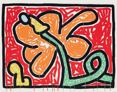Keith Haring, 'Flowers (5)', 1990