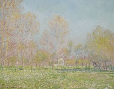 Claude Monet, 'Spring in Giverny', 1890