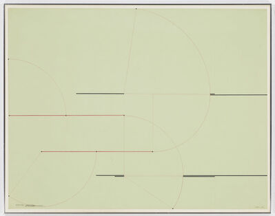Barry Le Va, 'Installation Study (4 Length Section)', 1973