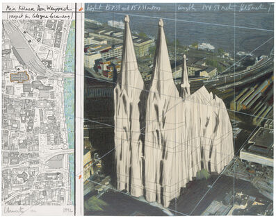 Christo, 'Mein Kölner Dom, Wrapped (Project For Cologne - Germany)', 1992