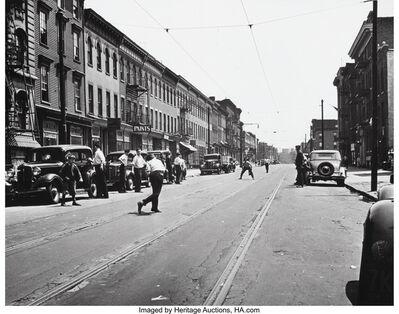 Joe Schwartz, 'Punchball on Dekalb Ave., Williamsburg, Brooklyn', circa 1930s