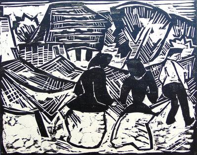 Karl Schmidt-Rottluff, 'By the Nets | Bei den Netzen', 1914