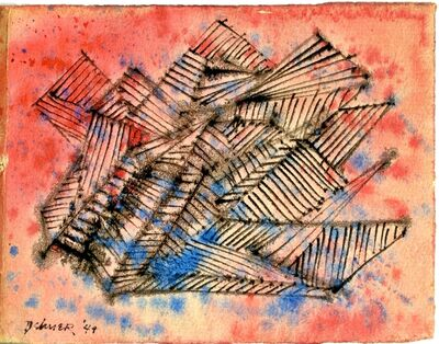 Dorothy Dehner, 'Untitled Mid Century Modern Abstract Watercolor', 1949