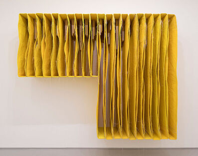 Simon Callery, 'Undercut Yellow Wallspine', 2017