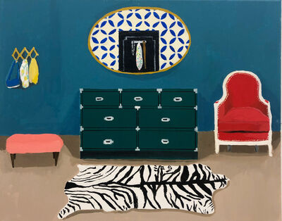 Polly Shindler, 'Dressing Room with Faux Zebra Rug ', 2019