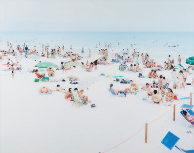 Massimo Vitali, 'Cagliari Blue Rectangle #0012', 1995